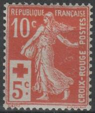 "FRANCE STAMP TIMBRE 147 "" CROIX ROUGE SEMEUSER 10c+5c ROUGE "" NEUF xx SUP  N982"