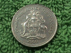 BAHAMAS   25 Cents   2000   ALMOST  UNC  `