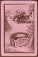 Playing Cards Single Card Old Vintage HOVIS BREAD Advertising Art FARM HORSES 5