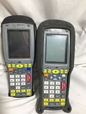 LOT OF 2 - Psion Teklogix 7535 Yellow Key Barcode Laser Scanner 36-Key