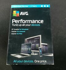 AVG PERFORMANCE Unlimited Devices 2 YearS Apple Android PC Windows