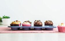 12 Cup Muffin Bun Cake Pudding Mould Bakeware Cupcake Baking Tray