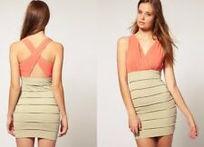 Asos RARE Colour Block Races Party Prom Formal Cocktail Occasion Dress