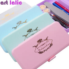 Nail Art Storage Box for Long Nail Tools Tweezers Cuticle Pusher Brush Pen Case