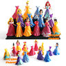 7x Princess Belle Rapunzel Cinderella Snow White MagiClip Barbie Doll Toy Figure