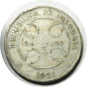 elf Colombia Lazareto Leper Colony 50 Centavos 1921 RH