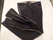 BURBERRY dark Jeans Women's with fabric lined on the side SZ US 4 /UK 6-euc!