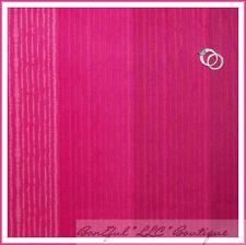 BonEful Fabric FQ Cotton Quilt Hot Bright Pink Stripe Tone Shade Calico Texture