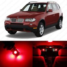 13 x Brilliant Red LED Interior Light Package For 2004-2010 BMW X3 Series E83