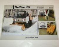 Prospekt DDR IFA - Multicar 25 - Winterdienstfahrzeuge - Ausgabe 1986