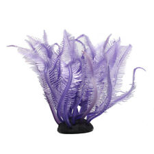 Purple Artificial Fake Coral for Fish Tank Decoration Ornament N2V1
