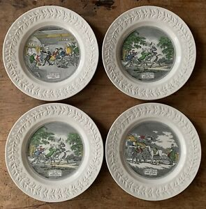 4 x Vintage Adams Ironstone Plate Doctor Syntax  Collectible England