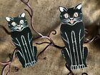 """Vintage Repro Sitting Cat,Red Mouth,Halloween Cardstock Decoration,4"""" 5"""" OR 6"""""""