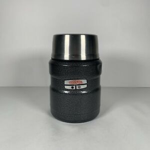 """Thermos Thermax Maximum Insulated Gray with Spoon 16 oz. Hot and Cold 6"""" x 3.5"""""""