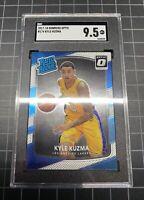 KYLE KUZMA ROOKIE Optic Rated Rookie Card #174(SGC 9.5) Possible PSA 10 Cross.