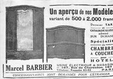 PARIS RUE DE CHARENTON MEUBLES MARCEL BARBIER PETITE PUBLICITE 1921