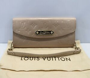 Louis Vuitton Vernis Bag Clutch Sunset Boulevard Cream Chain Handbag