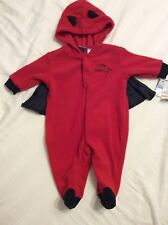 0-3 Month Little Devil One Piece Coverall Outfit w/Cape~Halloween Costume~NWT