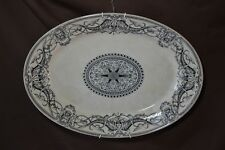 ANTIQUE FlorentineTransferware PLATTER 1879 T FURNIVAL & SONS Gargoyles 6 ptSTAR