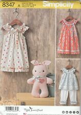 Simplicity Sewing Pattern 8347 Toddler's Dress Top Knit Pants Romper Sz 1/2-4