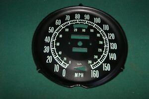 1968-1971 Corvette speedometer face with kilometers added BRAND NEW