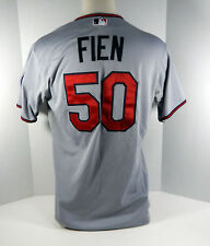 2015 Minnesota Twins Casey Fien #50 Game Issued Grey Jersey