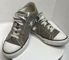 New listing Converse One Star Gray Canvas Low Skate Tennis Shoes Sneaker Women Size 8.5