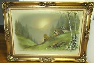 ANDRES ORPINAS HUGE ORIGINAL OIL ON CANVAS LANDSCAPE PAINTING