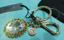 💕💕💕NEW MIMCO Gold Crystals charms Keyring KEYCHAIN  FREE POSTAGE 💟💟💟