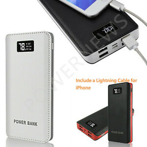 2020 POWERNEWS 4 USB 3000000mAh Power Bank LED External Backup Battery Charger