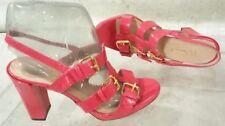 LK Bennett patent leather high heel sandal hot pink sz 6 eu 36
