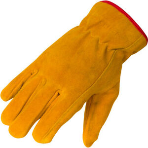 Kids Leather Work Gloves Soft Suede Cowhide Leather Sizes for ages 3-14