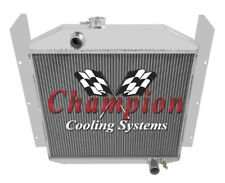 Champion Cooling 3 Row All Aluminum Replacement Radiator CC4952 Studebaker 2R10,