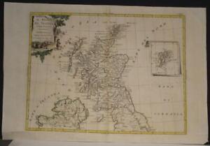 SCOTLAND 1776 ANTONIO ZATTA UNUSUAL ANTIQUE ORIGINAL COPPER ENGRAVED MAP