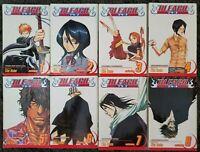 BLEACH Tite Kubo:Shonen Jump #1-8 - Lot of 8 Manga Books PB Graphic Novels