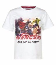 Vêtements blancs Marvel pour garçon de 2 à 16 ans