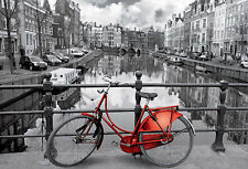 Puzzle de amsterdam, 1000 piezas, países bajos, holanda, bicicleta, canales, educa