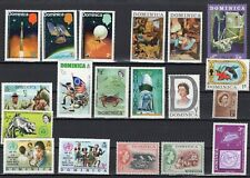 Dominica Caribbean 19 different stamps, Mint w/light hinge marks-see description