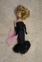 Vintage~BARBIE~1958-1993~BLONDE~DOLL~Dress~Gloves~Necklace~Earrings~NICE HAIR