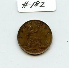 G. Britain 1886 Farthing (#182) Nice Brown Unc. Carefully Check out the Photos.