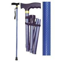 Aidapt Folding & Extendable Patterned Walking Stick Animal Black White or Blue