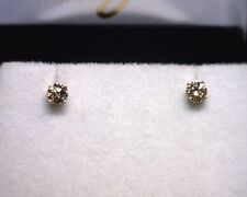 14K Yellow Gold Diamond Stud Earrings .44 TCW
