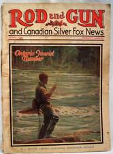 ROAD AND GUN AND CANADIAN SILVER FOX NEWS MAGAZINE JUNE 1929 TOURIST NUMBER