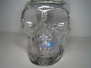 Bath & Body Works JUST RELEASED 2021 Light Up Skull 3 Wick Glass Candle Holder