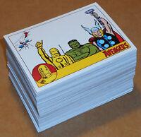 Marvel Avengers Silver Age (Rittenhouse, 2015) ~ COMPLETE 100-CARD BASE SET