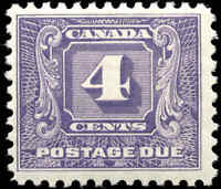 Mint H Canada 1930-32 F+ Scott #J8 4c Postage Due Stamp