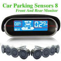 12V Car Parking Sensors 8 Weatherproof Rear Front View Reverse Backup Radar Kit