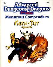 KARA-TUR MC6 MONSTROUS COMPENDIUM APPENDIX  VF! 2116 D&D AD&D Monster Manual TSR