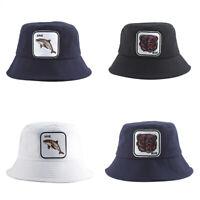 Bucket Hats Men Women Summer Fishing Hat Dolphin Embroidery Animal Hip Hop  9H