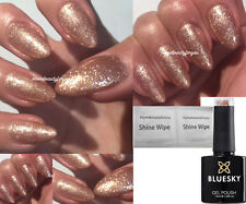 BLUESKY GEL POLISH ROSE GOLD SPARKLE EXCLUSIVE NAIL UV LED SOAK OFF, ANY 2 =FILE